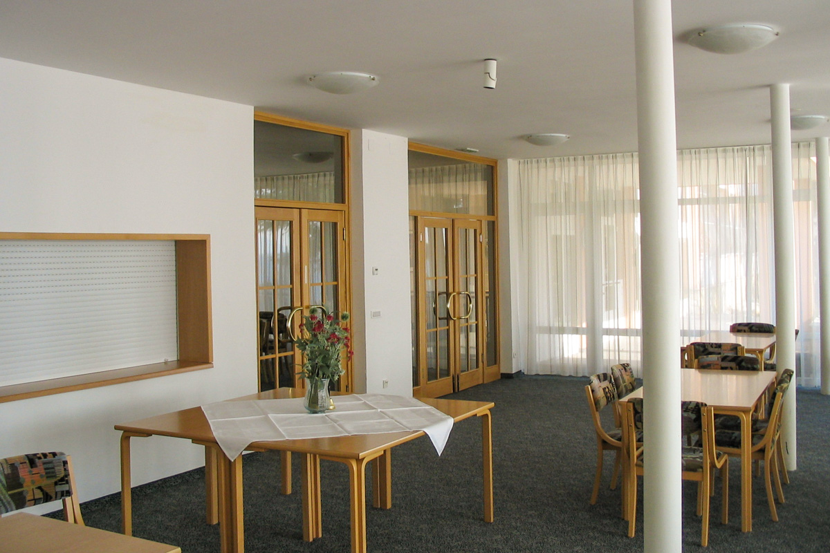 Dining hall with room for 140 persons